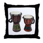 Djembe Drums 1 Throw Pillow