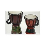 Djembe Drums 1 Rectangle Magnet (10 pack)