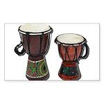 Djembe Drums 1 Sticker (Rectangle 10 pk)