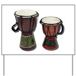 Djembe Drums 1 Yard Sign
