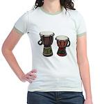 Djembe Drums 1 Jr. Ringer T-Shirt