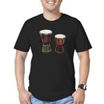Djembe Drums 1 Men's Fitted T-Shirt (dark)