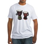 Djembe Drums 1 Fitted T-Shirt