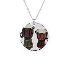 Djembe Drums 1 Necklace Circle Charm