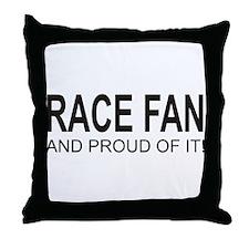 Proud Race Fan Throw Pillow