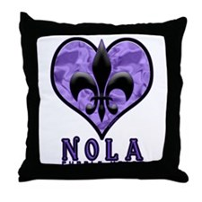NOLA 'Purple Heart' Throw Pillow