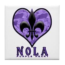 NOLA 'Purple Heart' Tile Coaster