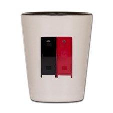 Black and Red Lockers Shot Glass
