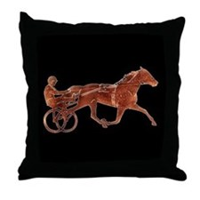 Brown Pacer Silhouette Throw Pillow