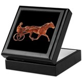 Standardbred horse Square Keepsake Boxes