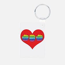 Mom Inside Big Heart Keychains