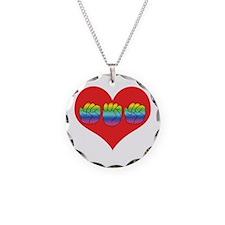 Mom Inside Big Heart Necklace