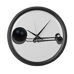 Ball Chain Gavel Large Wall Clock