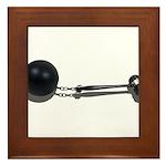 Ball Chain Gavel Framed Tile