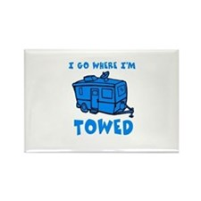 Towed Trailer Rectangle Magnet