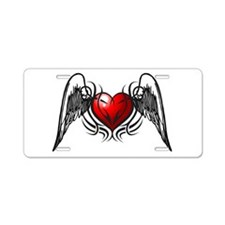 Tribal Wings Aluminum License Plate
