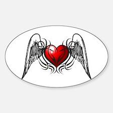 Tribal Wings Sticker (Oval)