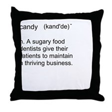 Candy Definition Throw Pillow
