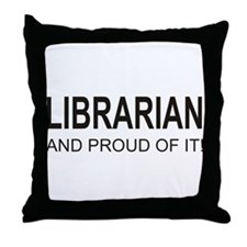 The Proud Librarian Throw Pillow