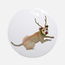 Reindeer Dog Ornament (Round)