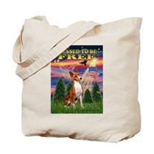 Blessed to be Free-Basenji Tote Bag