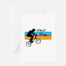 BMX Boy Greeting Cards (Pk of 20)