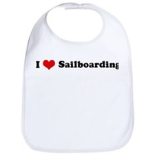 I Love Sailboarding Bib