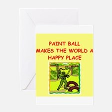 paint ball Greeting Card