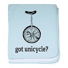 Got unicycle? baby blanket