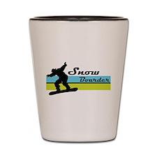 Snow Boarder Shot Glass