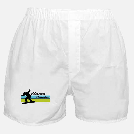 Snow Boarder Boxer Shorts