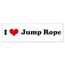 I Love Jump Rope Bumper Bumper Sticker