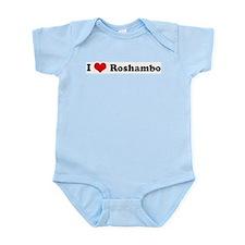 I Love Roshambo Infant Creeper