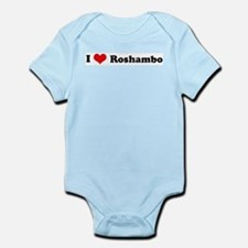 I Love Roshambo Infant Creeper