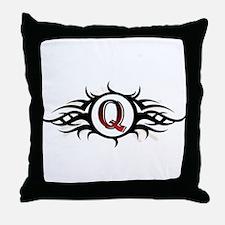 Tribal Q Throw Pillow