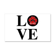 I Love My Dog Car Magnet 20 x 12
