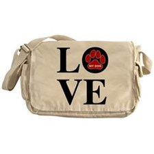 I Love My Dog Messenger Bag