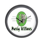 Pussy Willows Wall Clock