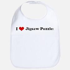 I Love Jigsaw Puzzles Bib
