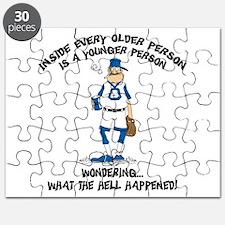 Funny Baseball Grandpa Puzzle