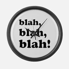 Blah, blah, blah Large Wall Clock