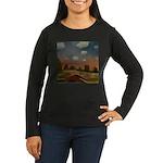 Evening Walk Women's Long Sleeve Dark T-Shirt
