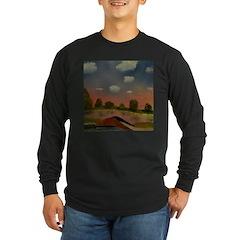 Evening Walk Long Sleeve Dark T-Shirt