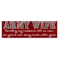 Army GF Bumper Sticker
