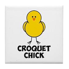 Croquet Chick Tile Coaster