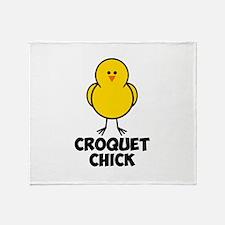Croquet Chick Throw Blanket