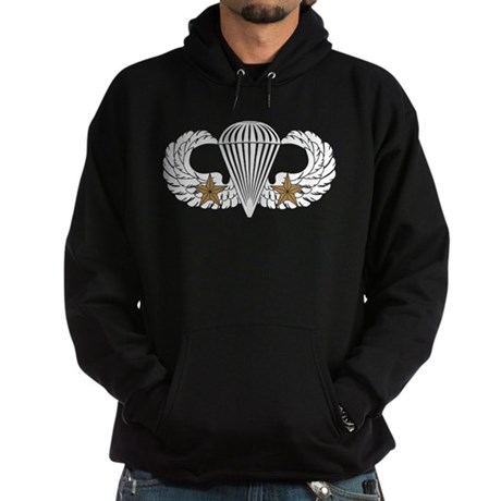 Combat Parachutist 1st -- B-W Hoodie (dark)