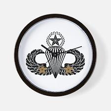 Combat Parachutist 2nd awd Mast B-W Wall Clock