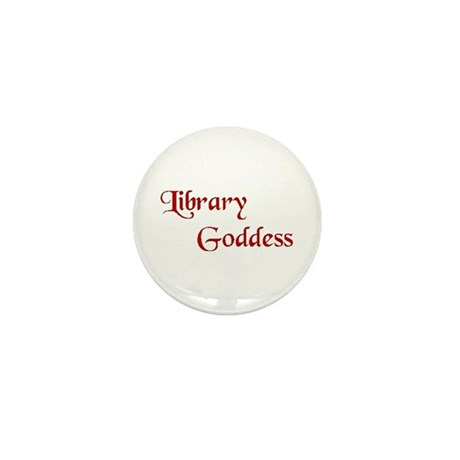 Red Library Goddess Mini Button