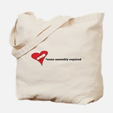 Red Heart Artsy Tote Bag